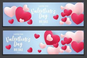 Valentine's Day Love and Feelings Sale Background Design. vector