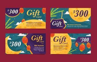 Mid Autumn Gift Card Festival vector