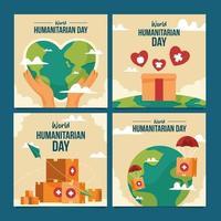 Humanitarian Day Card Pack vector