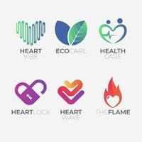Heart Shapes Logo Collecton vector