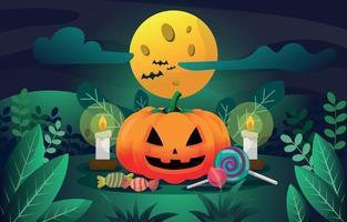 fondo de calabaza de halloween vector