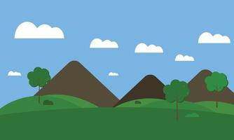landscape with mountains and sky vector