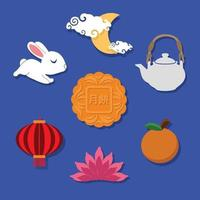 Mid Autumn Festival Icon vector