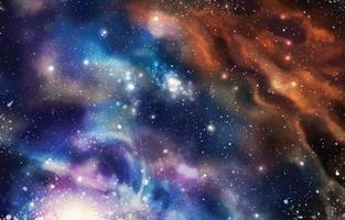 Amazing Watercolor Galaxy Space vector