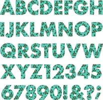 winter holly pattern vector alphabet
