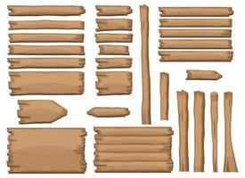 Wooden planks in cartoon style vector