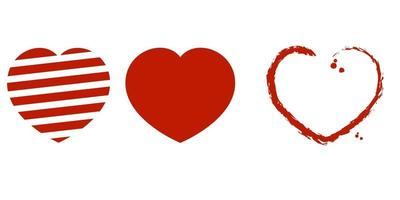 heart shape icon collection vector