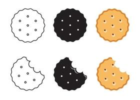 Simple biscuit icon. Food icon. Vector Illustration