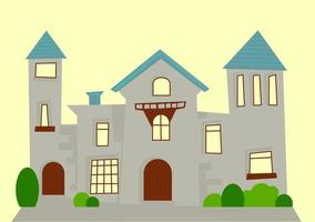 Old Grey Luxury Mansion Apartment vector