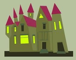 Spooky Creepy Old Mansion Apartment vector