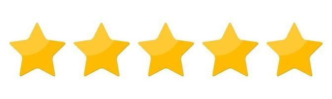Five 5 Star rank sign Vector Illustration