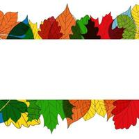 Autumn Background Template with leaves. Special offer. Limited Time. vector