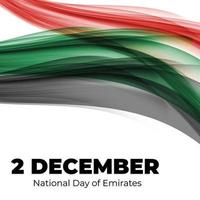 National Day of Emirates 2 December Holiday Background. vector