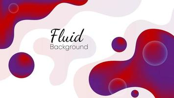 gradient fluid background with red and purple color vector