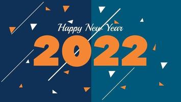 happy new year 2022 banner background vector
