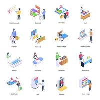 Pack of Hotel Facilities vector
