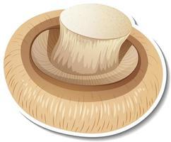 Champignon mushroom sticker on white background vector