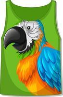 Tank top with parrot bird pattern vector