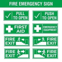 fire emergency sign vector
