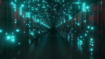 Pasarela de túnel de ciencia ficción foto