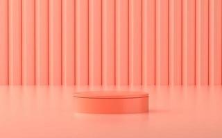 Escenario del producto con escena rosa para promoción o escaparate del producto. foto