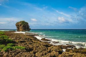 Scenery of Kenting with Chuanfan Rock photo