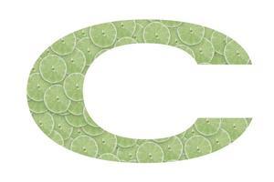 vitamina c escrita a partir de cítricos foto