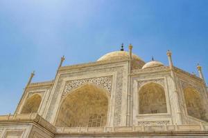 Taj Mahal Agra India Mogul marble mausoleum detailed architecture. photo