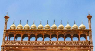 Taj Mahal Agra India Great Gate red amazing detailed architecture. photo