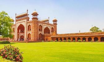 Taj Mahal Tadsch Mahal Great Gate Agra Uttar Pradesh India. photo