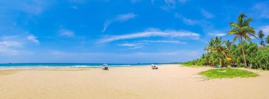 Beautiful sunny landscape panorama from Bentota Beach on Sri Lanka. photo