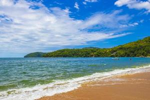 Big tropical island Ilha Grande Praia de Palmas beach Brazil. photo