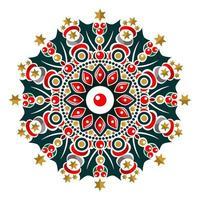 Modern mandala art vector design with a beautiful mix of colors