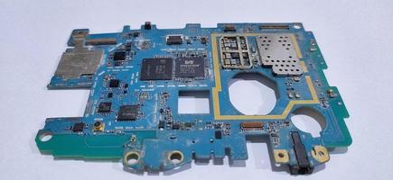 The damaged circuit board cellular is an older model photo