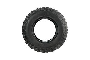 All terrain tire isolated on white background. photo