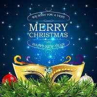Merry Christmas and New Year Party Background. Vector Illustration