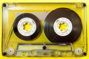 Audio cassette tape isolated photo