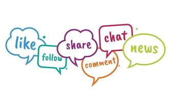 Social media chat bubble. Discussion in online platform vector