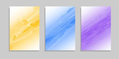 Set Colorful Modern Watercolor Texture Cover Background Template vector