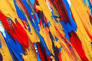 Multicolored paint brush strokes surface. Resolution and high quality beautiful photo