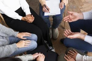 People circle group therapy session. Resolution and high quality beautiful photo