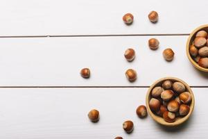 Bowls with nuts table. Resolution and high quality beautiful photo