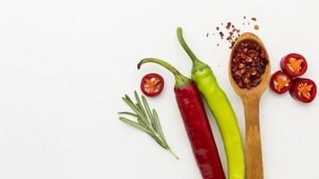 Chili condiment with copy space. Resolution and high quality beautiful photo