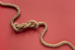 nudo de cuerda de marinero de alta vista. resolución y hermosa foto de alta calidad
