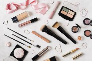 Makeup items light desk. Resolution and high quality beautiful photo