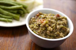 Green chili dip and vegetable in Thailand photo