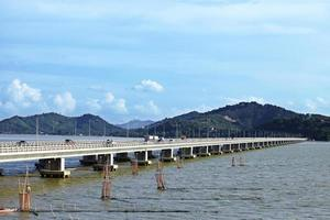 The bridge cross to the mountain photo