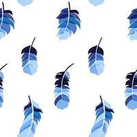 Pluma de pájaro dibujado a mano de fondo transparente vector