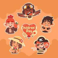 Happy Children's Day  Sticker Pack vector