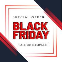 Black friday sale Social media banner template vector
